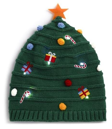 KIMBALL-MISSING-GREEN LIGHT UP CHRISTMAS TREE HAT, GRADE MISSING, WK MISSING, € MISSING.jpg
