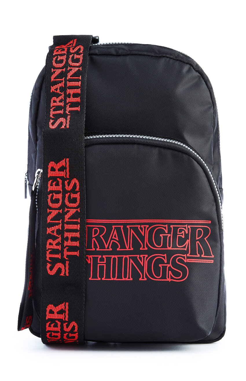KIMBALL-1305501-BLACK STRANGER THINGS NYLON MESSENGER BAG, GRADE MISSING, WK MISSING, £8 €10 $12.jpg